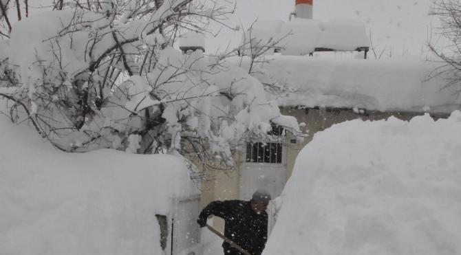 Bitlis`te beyediyeden karla mücadele için yardım talebi