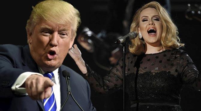 İngiliz şarkıcı Adele'den, Donald Trump'a veto