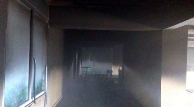 İdil Anadolu Lisesi ateşe verildi
