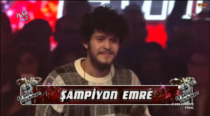O Ses Türkiye Şampiyonu Emre Sertkaya oldu! Muhteşem performansı izle!