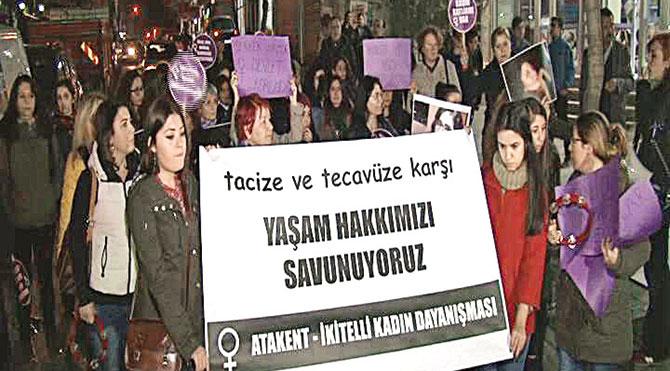 İkitelli'de tecavüz protestosu