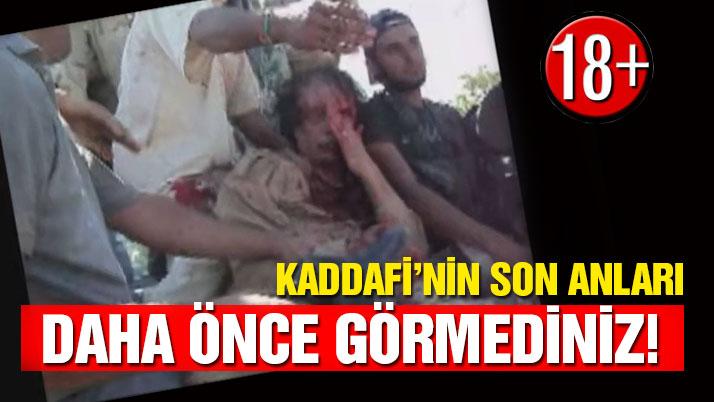 Kaddafi'nin son anlarının görülmemiş videosu (+18)
