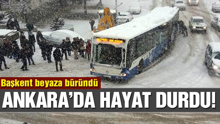 Ankara'da yoğun kar