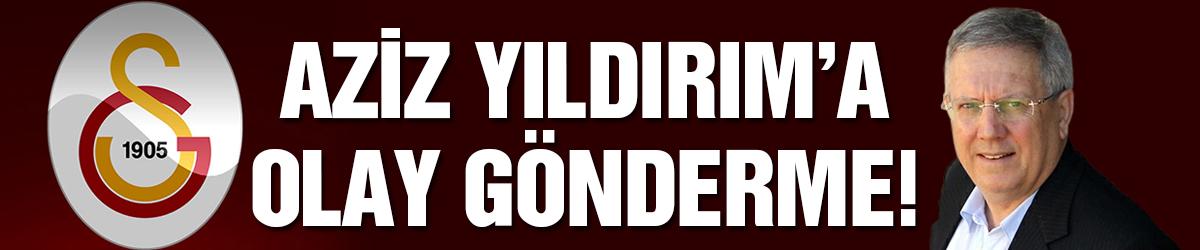 Galatasaray'dan Aziz Yıldırım'a olay gönderme