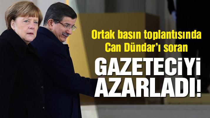 Davutoğlu'dan gazeteciye azar!