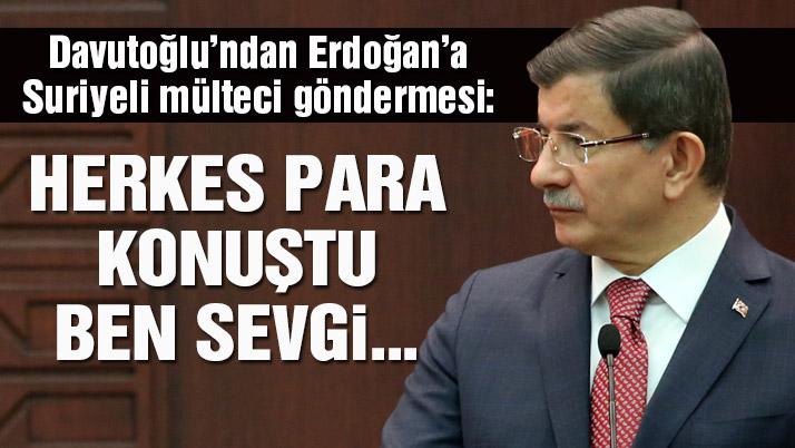 Davutoğlu'ndan Erdoğan'a gönderme