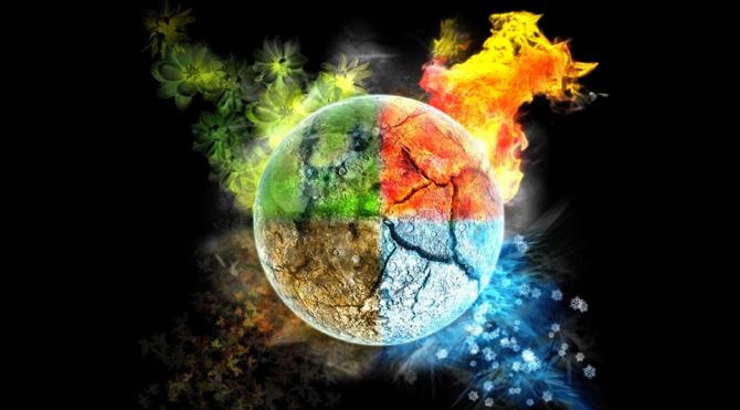Yunan felsefesi 4 element doktrinine dayanır. Ahlak (Ateş) Estetik ve Ruh (su) akıl (Hava) Fiziksel her şey (Toprak)