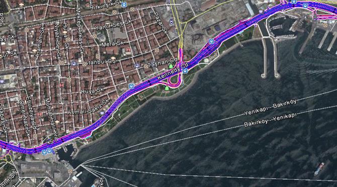 İstanbul Büyükşehir Belediyesi Bakırköy sahilindeki transit yolun kaldırılacağını açıkladı.