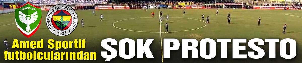 Amed Sportif – Fenerbahçe maçında şok protesto