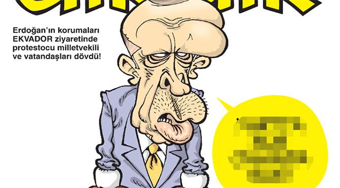 Gırgır'ın kapağında Cumhurbaşkanı'nın Ekvador gezisi var
