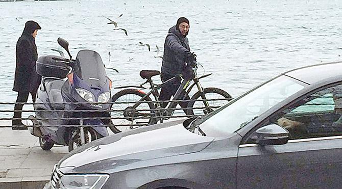 Boğaz'da bisiklet kazası