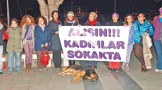 Bodrumlu kadınlardan 'sokaktayız' eylemi