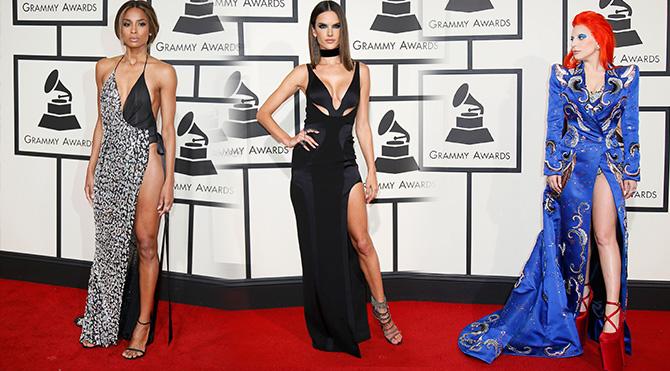 Grammy Ödülleri'nde dekolte yarışı