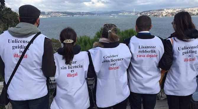 Profesyonel turist rehberleri imza kampanyası başlattı