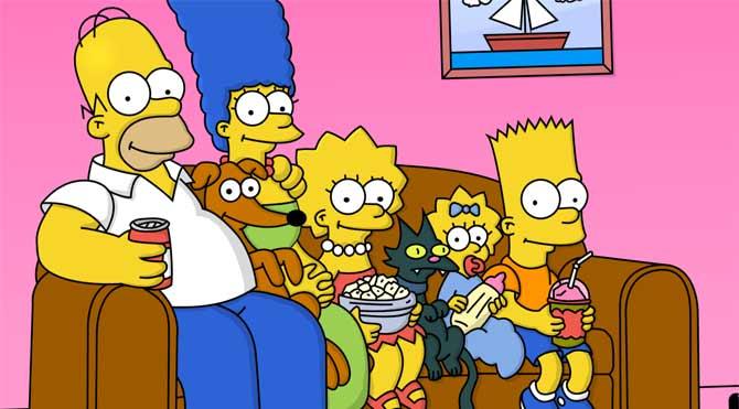 The Simpsons'tan üç dakikalık canlı yayın