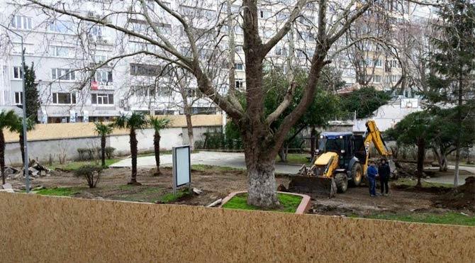 İTÜ'de ağaçlar kesiliyor