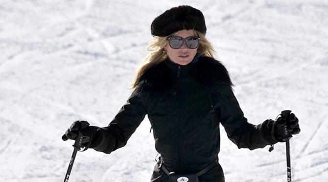 İngiliz manken, her kış birkaç kez İsviçre Alpleri'ndeki Gstaad'a kayağa gidiyor.
