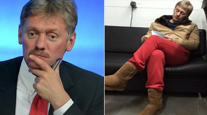 Kremlin Sözcüsü'nün kırmızı pantolonu, Rusya'da gündem oldu