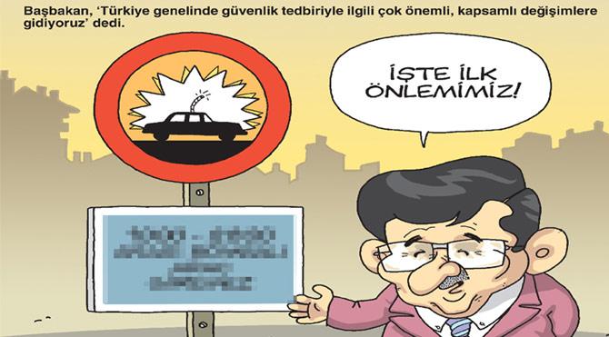 Gırgır'ın kapağında Başbakan'ın bombalı araç tedbiri var