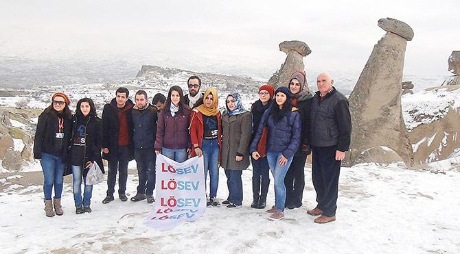 LÖSEV'in gençleri Kapadokya'da