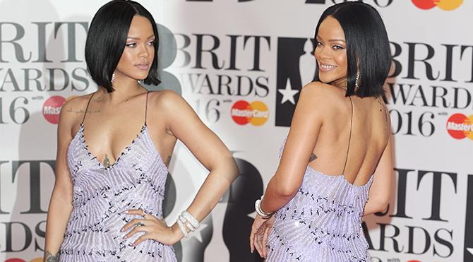 Rihanna bu kez sade