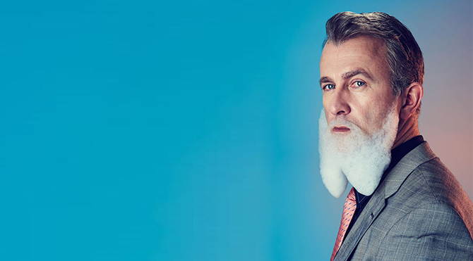Şimdi moda köpüklü sakallar