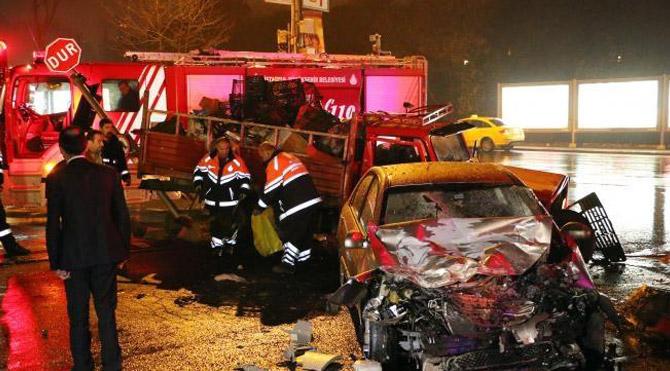 Sarıyer'de trafik kazası: 1 ölü, 2 yaralı