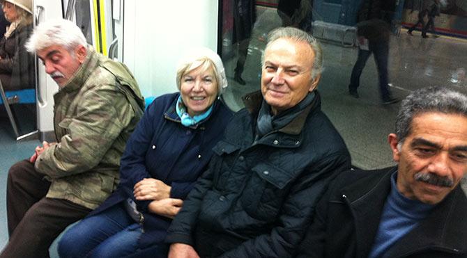 Efsane aktör Marmaray'da