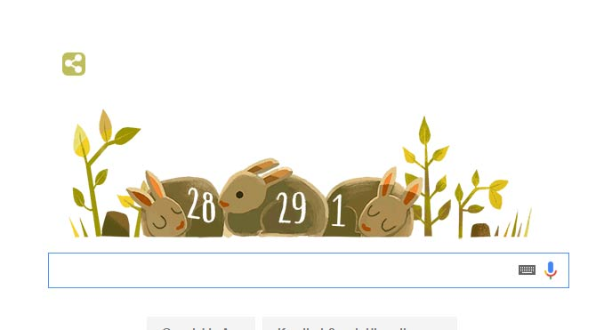 2016 yılına denk gelen 29 Şubat Google'ın Doodle'ı oldu