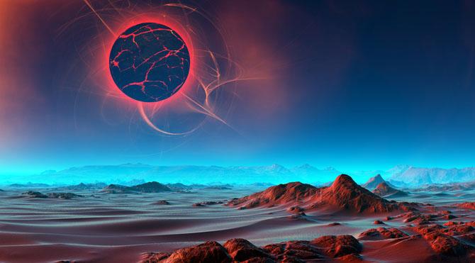 """9 Mart günü 01:57'de Balık burcunun 18. derecesinde """"ŞİRONYEN"""" Tam Güneş Tutulması meydana gelecek. Tutulma Güney Asya ve Pasifik'ten gözlemlenebilecek."""