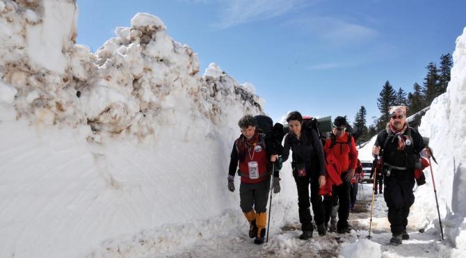 İkizdere`de Çağrankaya Kar Yürüyüşü başladı
