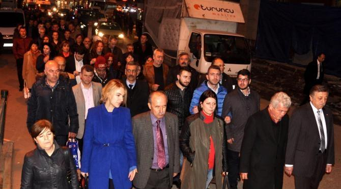 Ankara`daki patlama Zonguldak`ta protesto edildi