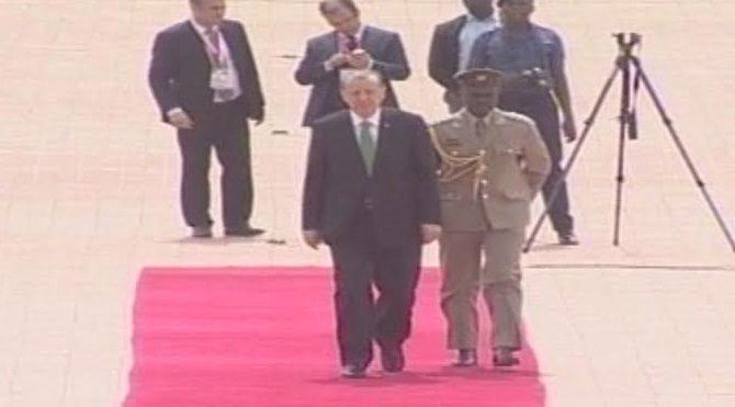 Cumhurbaşkanı Erdoğan'a Gana'da 'kırmızı halı' şoku