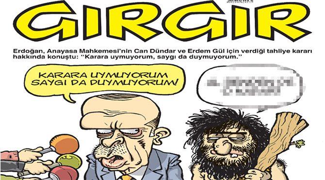 Gırgır kapağına Anayasa Mahkemesi kararını taşıdı