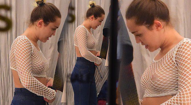 Miley Cyrus file kıyafetiyle alışveriş yaptı