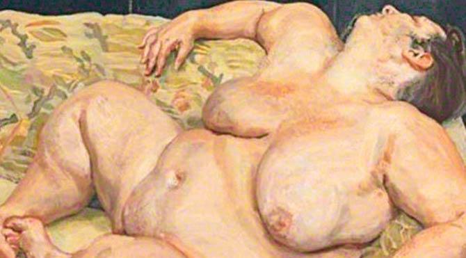 120 kiloluk çıplak kadın tablosuna 55 milyon dolar