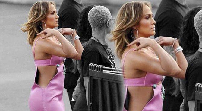 Jennifer Lopez elbisesiyle olay oldu