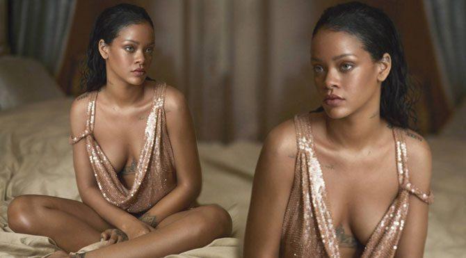 Rihanna en sade haliyle Vogue kapağında…