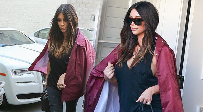 Kim Kardashian paltosuz çıkmıyor