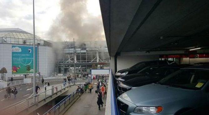 Belçika'nın başkenti Brüksel'de ardı ardına patlamalar!