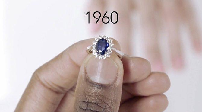 Tek taş yüzüklerin 100 yıllık tarihi