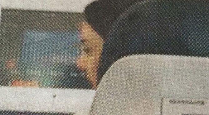 Ebru Gündeş uçakta görüntülendi