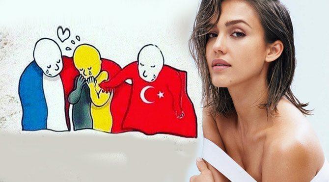 Jessica Alba, terör tepkisinde Türkiye'yi unutmadı