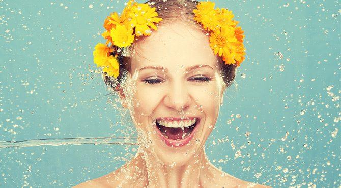 Yüzünüzü soğuk su ile yıkayın