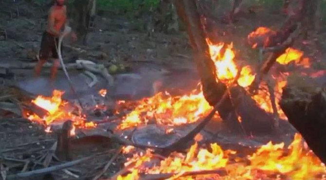 Survivor'da yangın paniği!