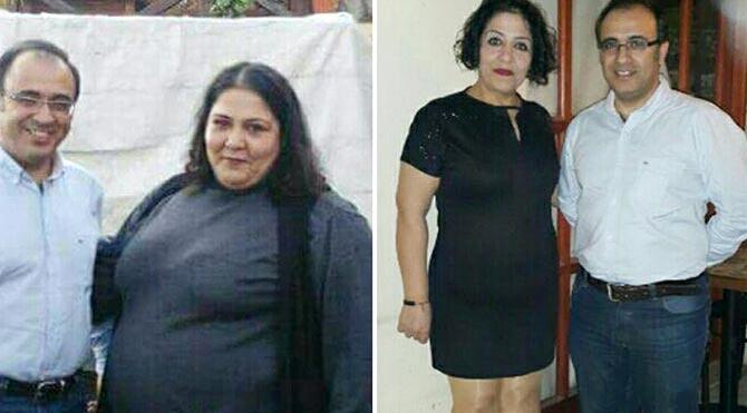1 yılda 84 kilo verip 84 kiloya düştü