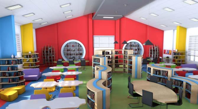 Okul kütüphanesinin tasarımı ne olmalı