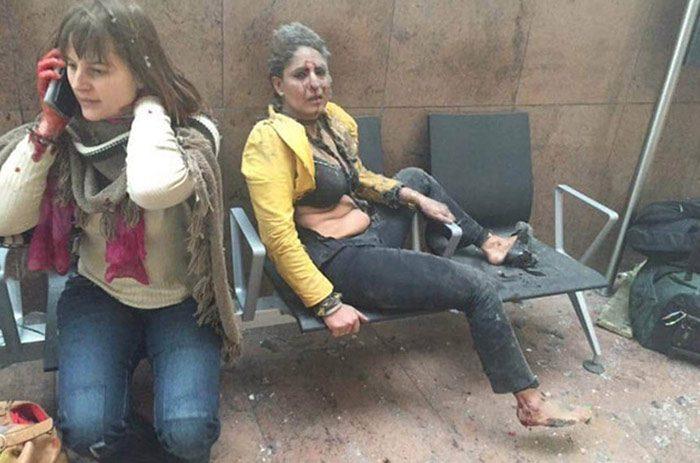Fotoğraflar: Sosyal medya/Brüksel'de patlama