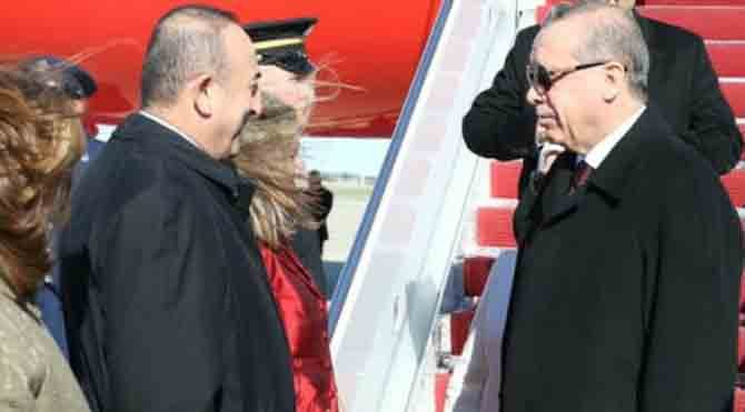 'Erdoğan'ı ABD'de Teksas Kaymakamı Mevlüt Çavuşoğlu karşıladı'