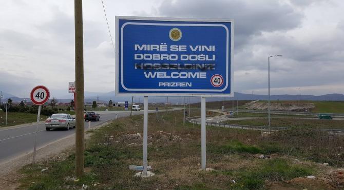 Kosova'da Türkçe tabelaya saldırı